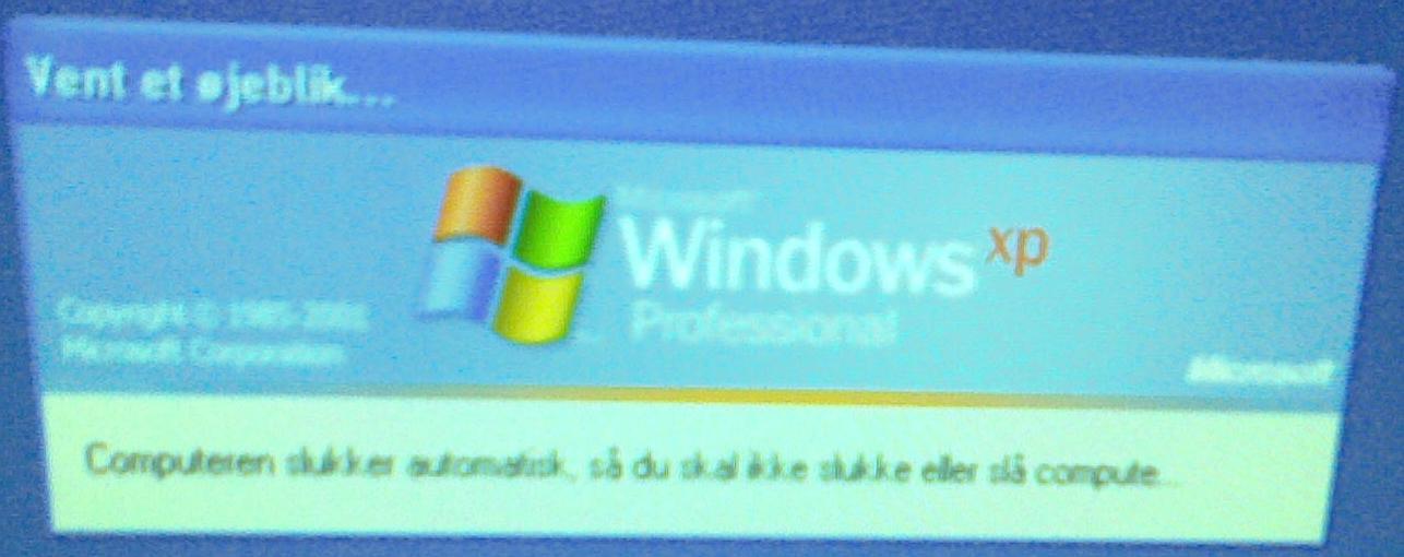 Windows - du må ikke slå computeren